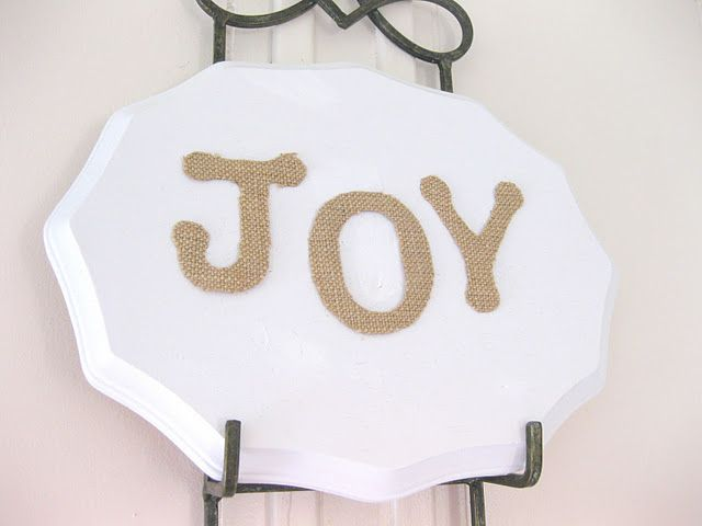 Wood Plaque. Check. Burlap. Check-Check. How simple and cute!