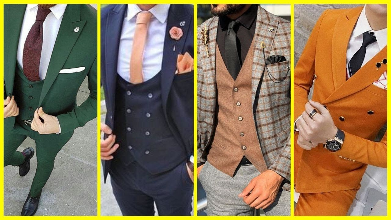Three Piece Suit Men Three Piece Suit New Coat Pant Design 2020