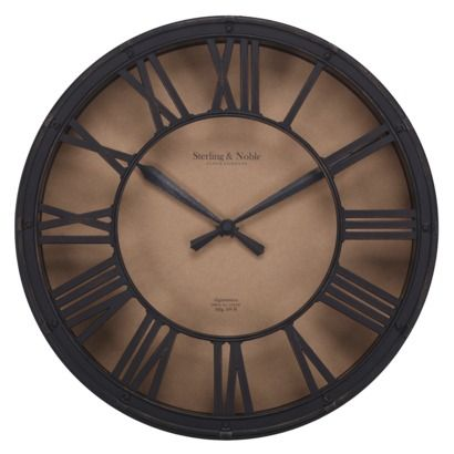 Threshold wall clock antique bronze target for downstairs living room decor clock Target clocks living room
