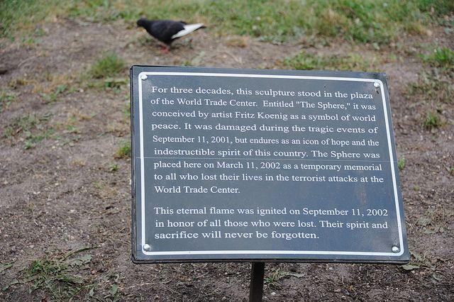"World Trade Center Sphere | World Trade Center ""The Sphere"" plaque | Flickr - Photo Sharing!"