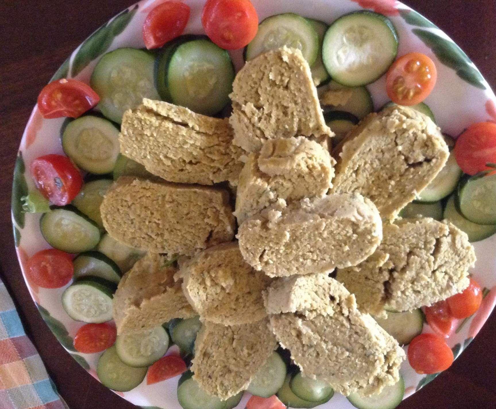Ricetta Polpettone tonno e ceci con zucchine al varoma Bimby
