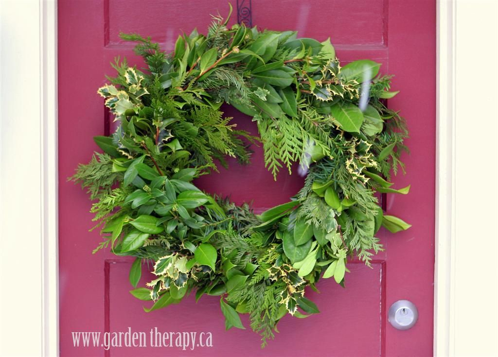How to make a DIY fresh evergreen Holiday Wreath