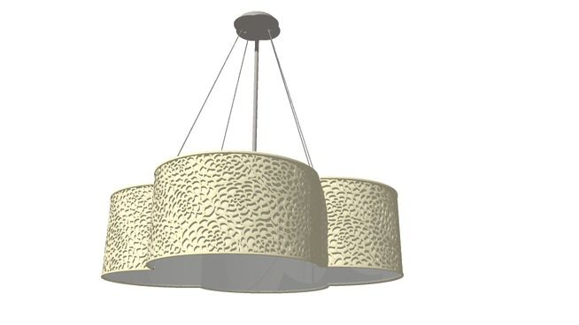 Floral perforated quatrefoil pendant light 3d warehouse