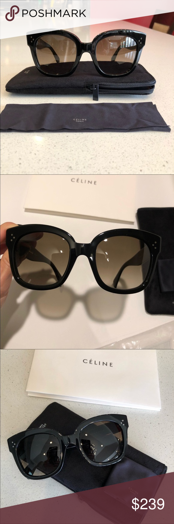 bb510c0d50a55 Celine Audrey sunglasses New Celine Audrey 41805 S sunglasses - black brown  shaded 100% New and Authentic. Comes with all accessories. Celine  Accessories ...