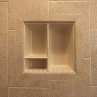 Silver Footed Compote Dish Home Products On Houzz Tile Shower Niche Shower Niche Tile Shower Shelf