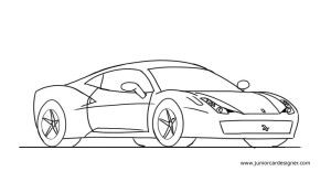 How To Draw A Car For Kids Ferrari 458 Nature Drawing For Kids