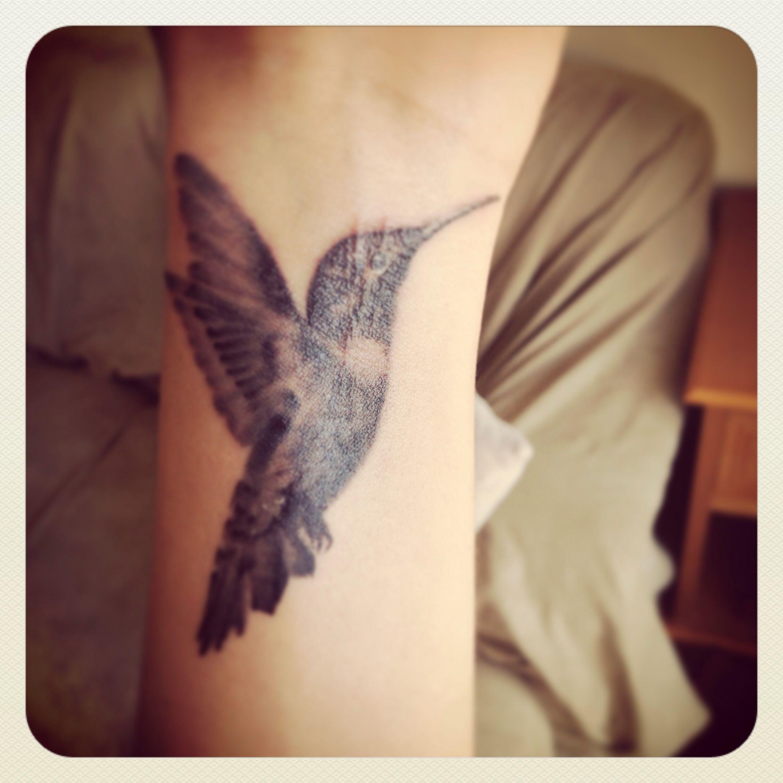 Hummingbird tattoo! My first tattoo, got it done at Sacred Rose Tattoo in Berkeley, CA