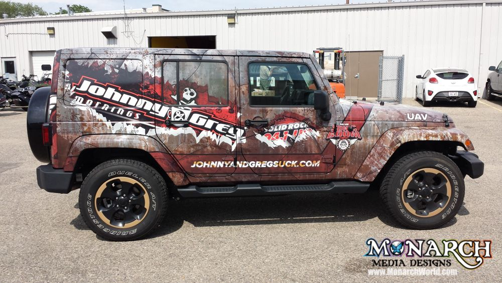 Truck wrapped in Madison, WI by Monarch Media Designs