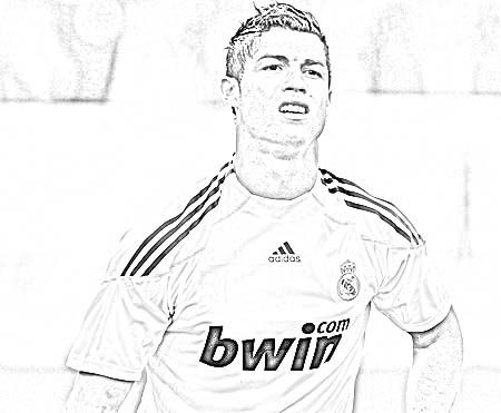 Sketch Free Cristiano Ronaldo Coloring