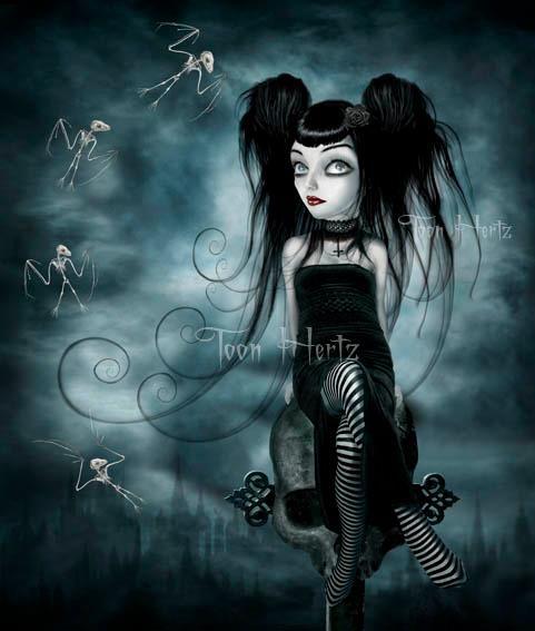 Gothique l 39 artiste toon hertz pinterest gothique - Dessin gothique ...