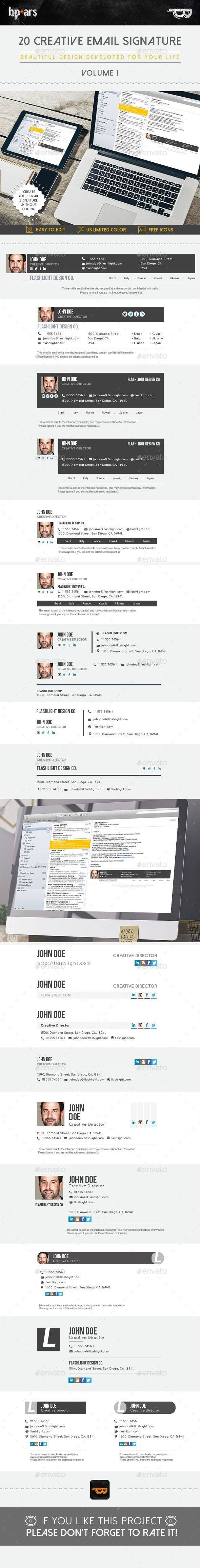 20 Email Signature Affiliate Email, Sponsored,