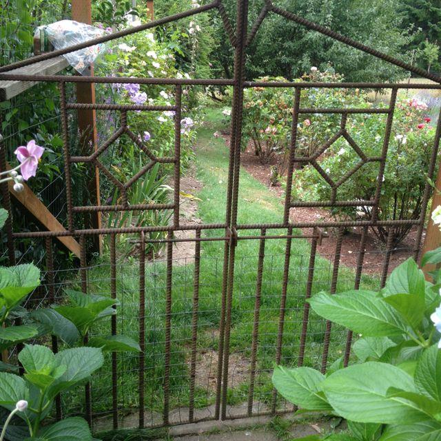 Rebar Garden Gate Garden Inspiration Pinterest