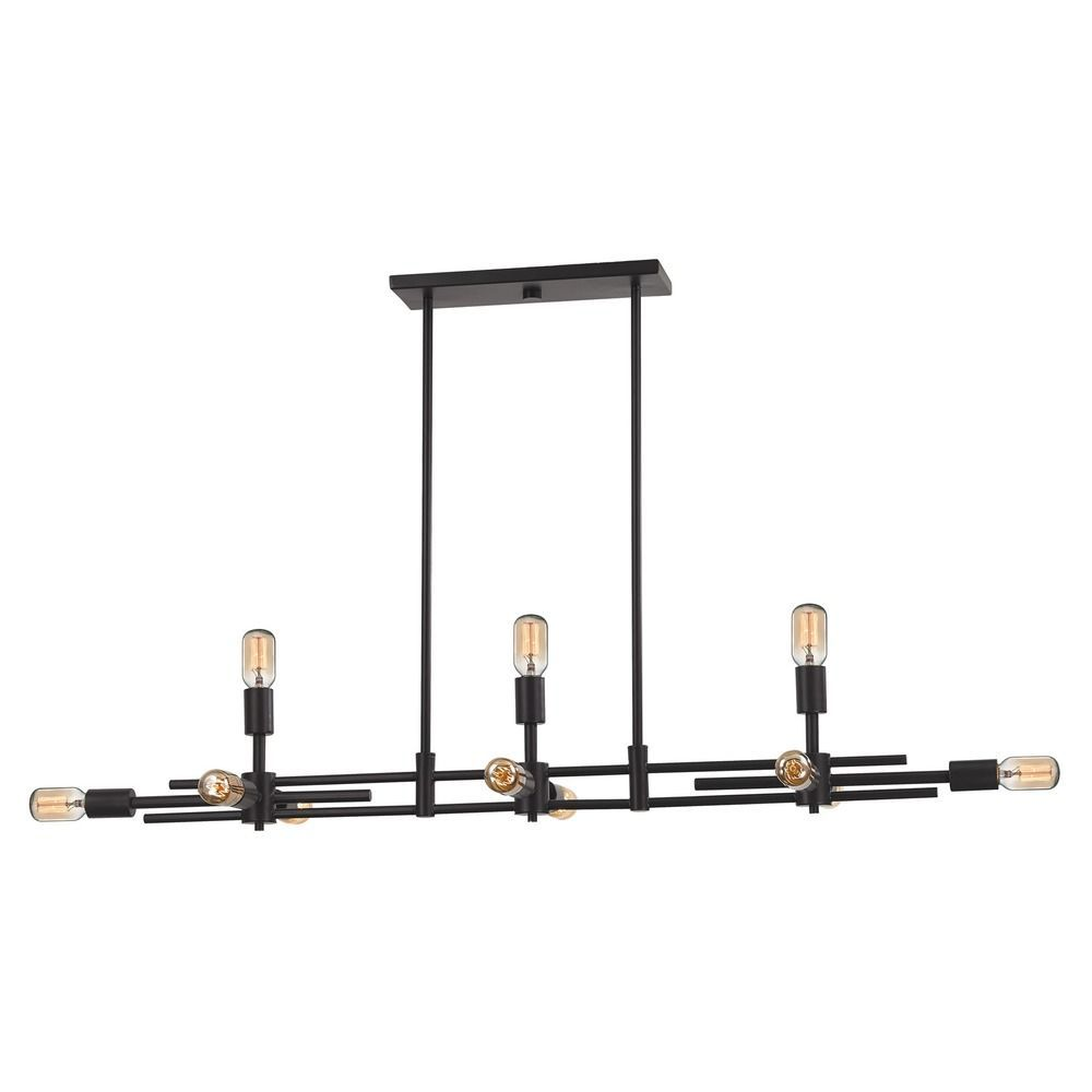 Industrial Island Light Oiled Rubbed Bronze Parallax by Elk Lighting ...