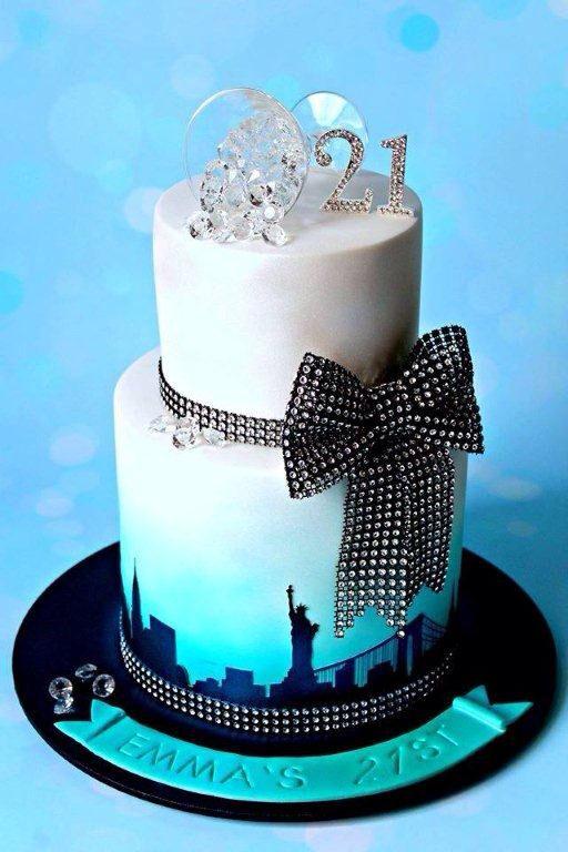 New York Skyline Cake Simple Style With High Impact Beautiful