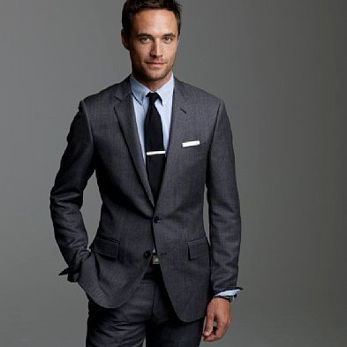 charcoal suit with different colored vest - Google Search   Suits ...