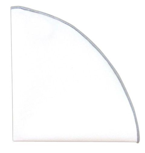 Solid White Cotton Round - Silver Border (PSq)