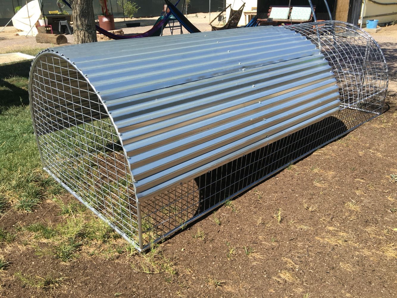5\'X12\' WELDED WIRE AND SHEET METAL ROOF ARC CAGE. | DOG KENNEL ...