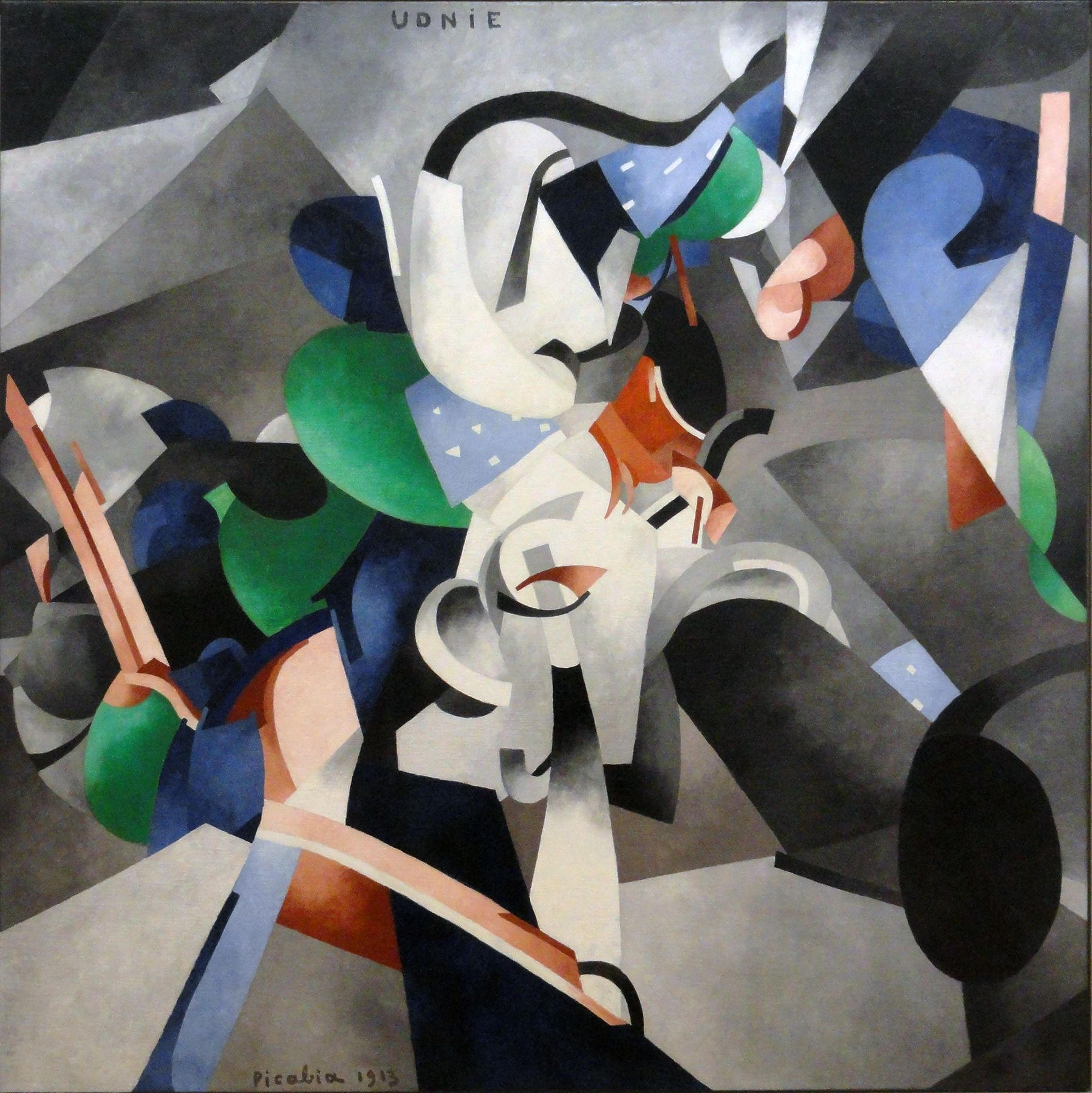 Francis Picabia 1913 Udnie Young American Girl The Dance Oil