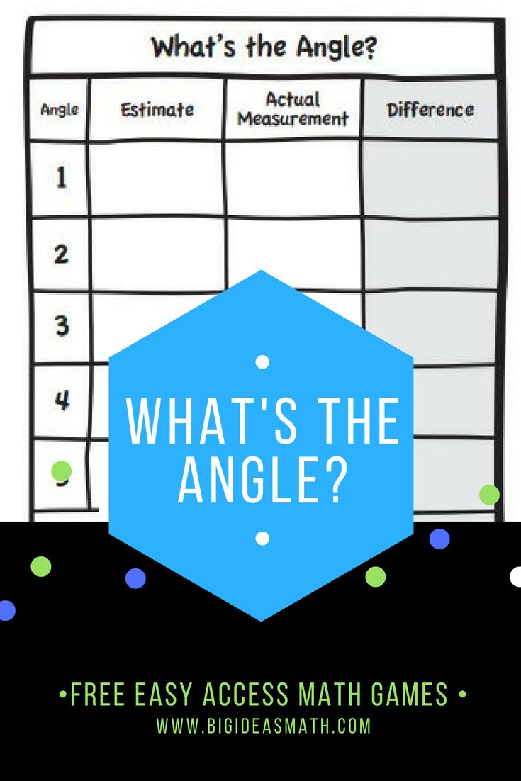 What\'s the Angle? #MathGame Work with a partner. Each student draws ...