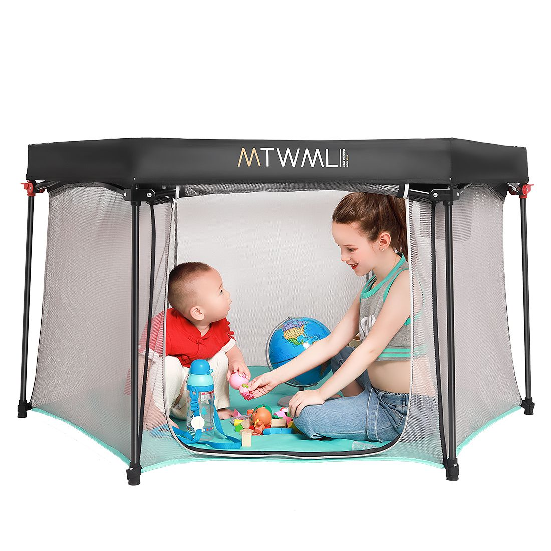 I Wonder If I Could Make This Larger To Set Up In Our Backyard Around The Playset Baby Play Areas Baby Play Yard Baby Playpen