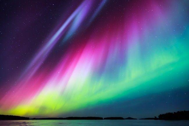 Aurora Sky Northern Lights Wall Mural Wallpaper in 2020