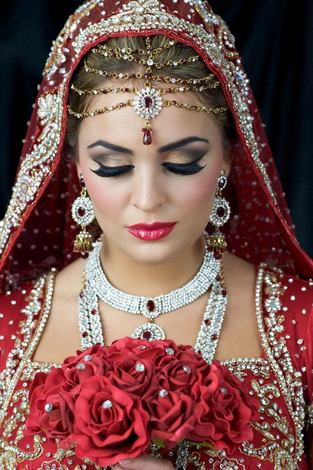 Pin on Indian/Asian/Arabic/Pakistan Bridal Hair and Makeup