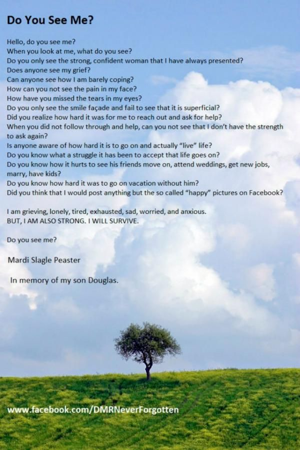 Do You See Me? | The Grief Toolbox | Grief support photoart | Grief