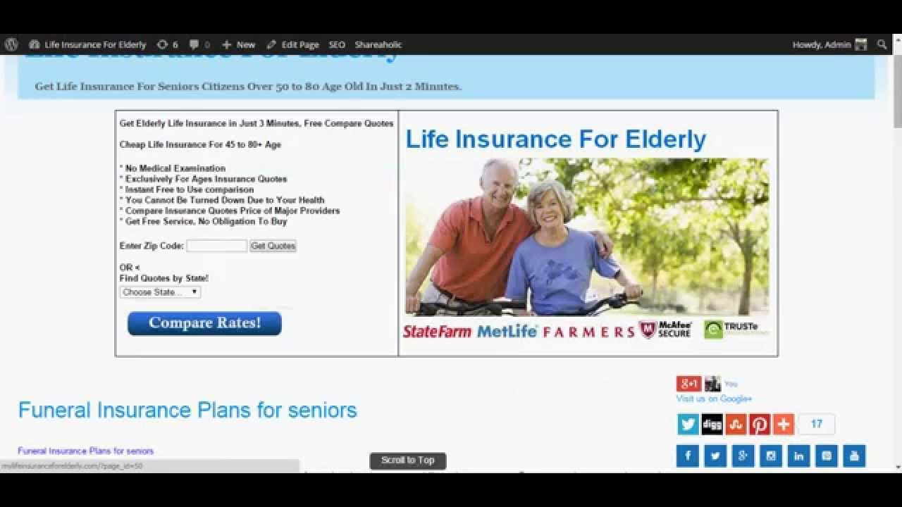 Affordable Life Insurance Quotes Funeral Insurance Plans For Seniors  Life Insurance For Elderly