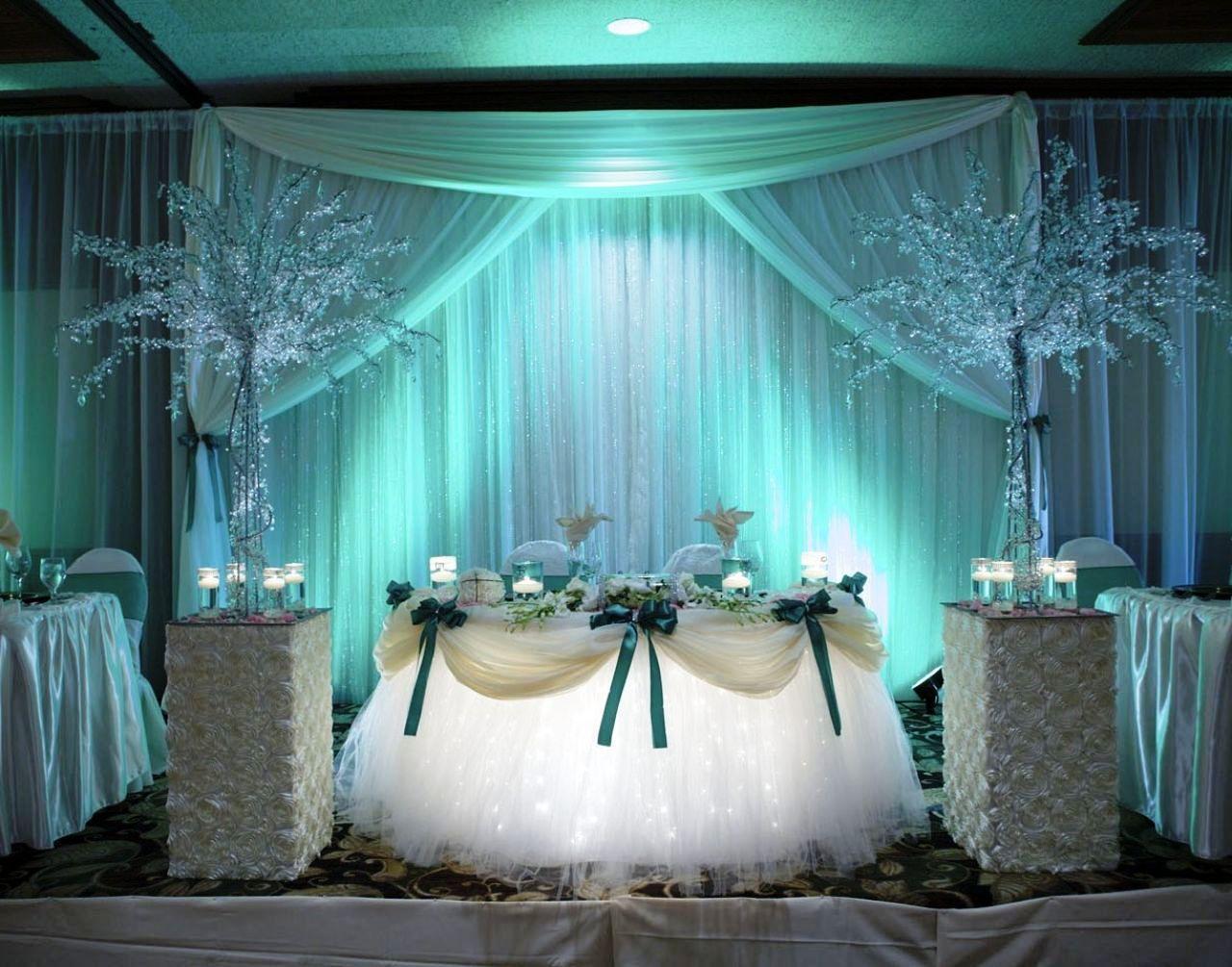 25 Teal Wedding Decorations Ideas Wohh Wedding Wedding Table Ideas Blue Head Table Wedding Head Table Decor