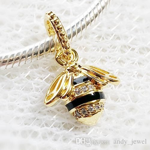 6d98d22c8d5f4 Spring 18ct Gold Plated & Sterling Silver Beads Queen Bee Pendant ...