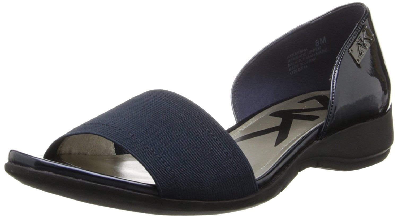 Anne Klein Sport Women's Kaesha Synthetic Flat,Black,10 M