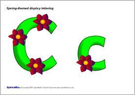 21+ Flower lettering for displays inspirations
