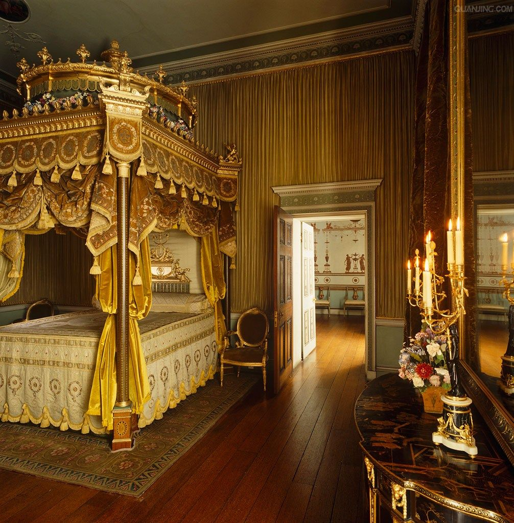 20 Gorgeous Luxury Bedroom Ideas: The State Bed At Osterley Park Designed By Robert Adam