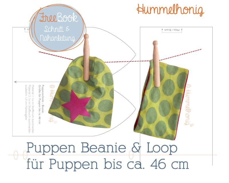 Freebook Puppen Beanie und Loop