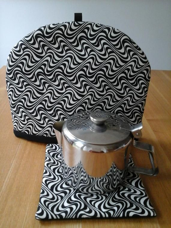Tea cosy, one cup tea pot cosy,  tea cosy, tea cosy and coaster set, coaster, mug rug, small tea cosy, one cup, striped, monochrome #teapotset