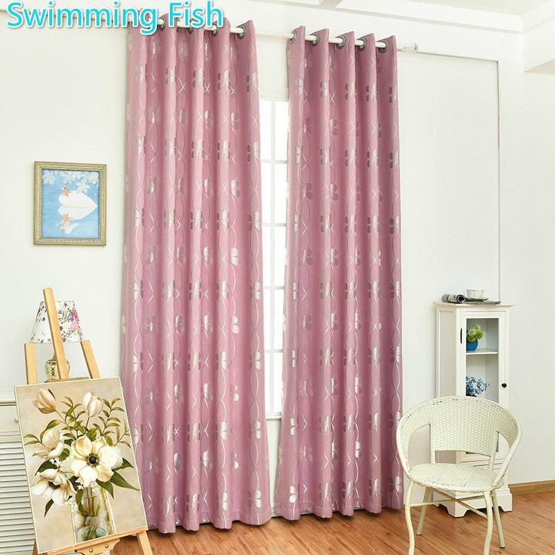 New 80% High Blackout Jacquard Polyester Floral Fabric Curtain ...