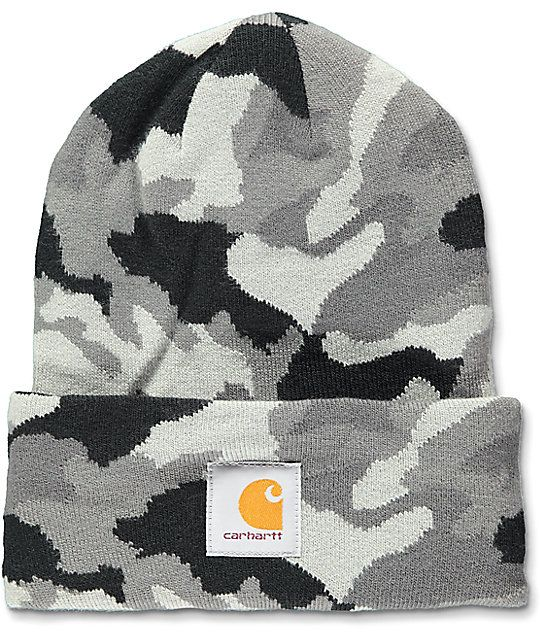 Carhartt Watch RGD Grey Camo Beanie in 2019  77d1e579ce10