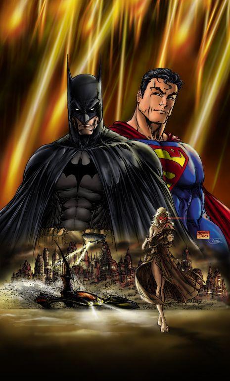 Superman Batman Michael Turner By Rasiumlane By Rasiumlane Dc Comics Art Superhero Art Dc Comics Artwork