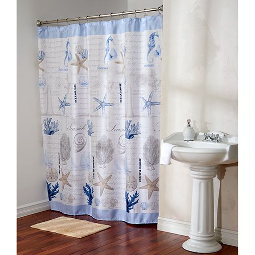 Ocean Advice Fabric Shower Curtain With Hooks With Images