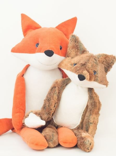 Stuffed Fox + wolf sewing pattern toy Fuchs (new version