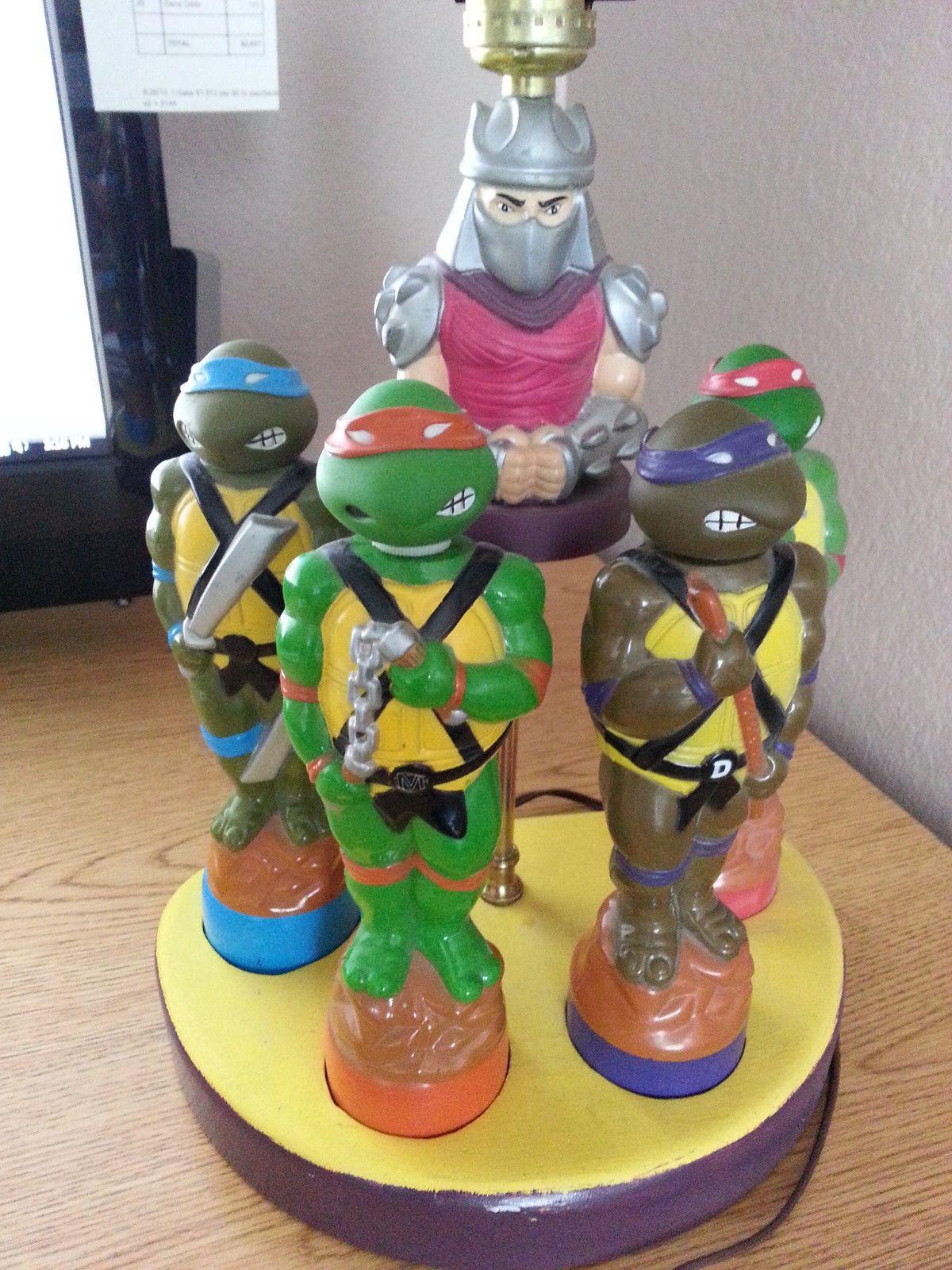 Teenage Mutant NINJA TURTLES Lamp! One Of A Kind! 4 Ninja Turtles And  Shredder