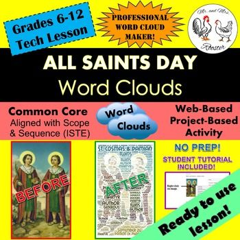 Tech Lesson - All Saints Day Word Clouds {Technology Lesson Plan - lesson plan words