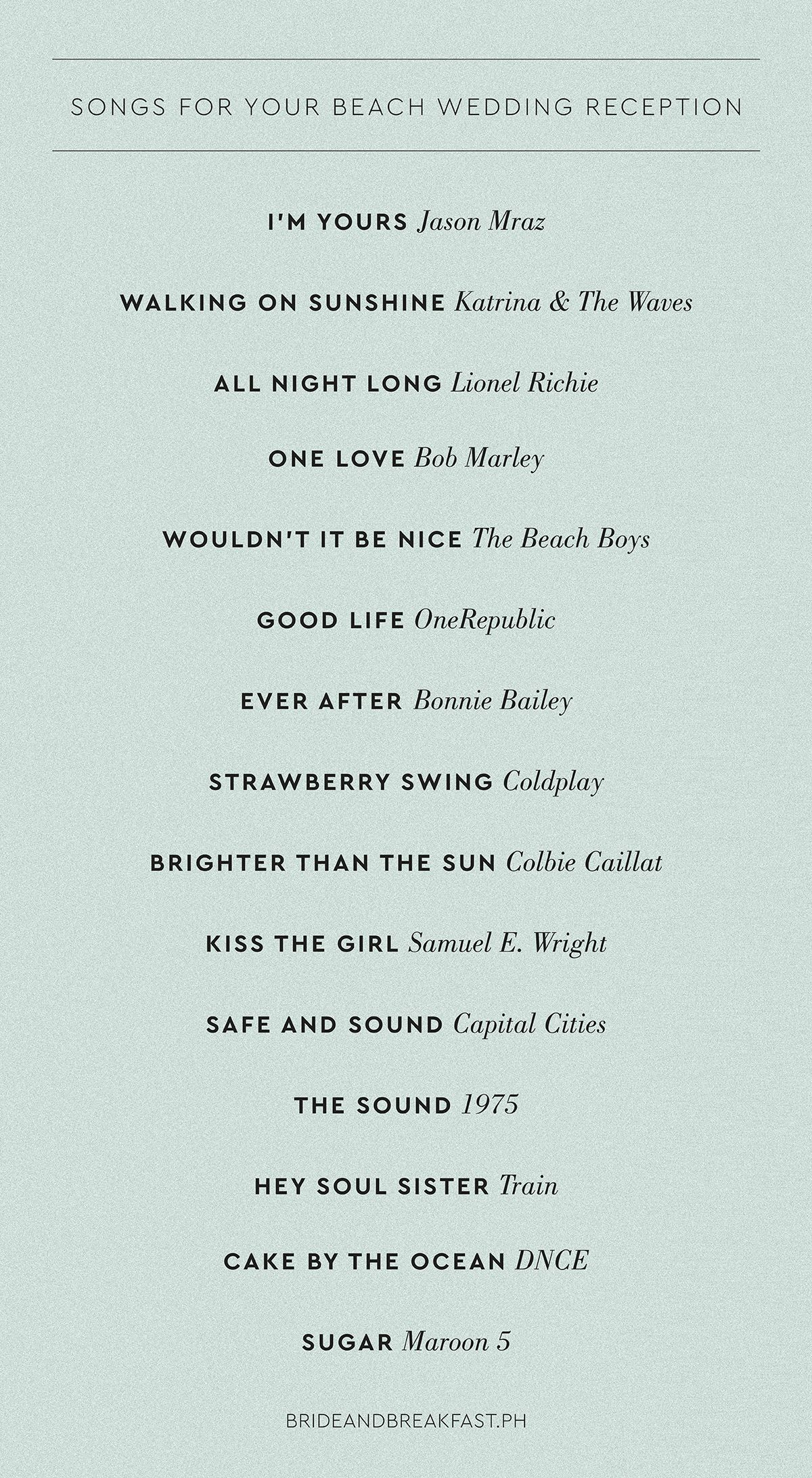 Pin by Tina Chlosta on Wedding Songs in 2020 Beach