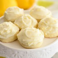 Recipe for Butter cookies with lemon cream cheese frosting #lemoncreamcheesefrosting