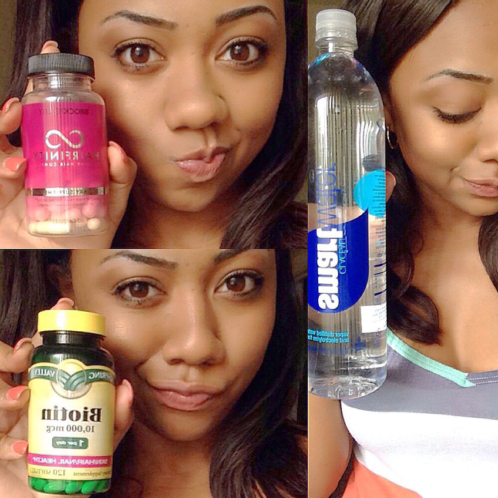 Combining Hairfinity 2 Pills And Biotin 1 Pill Gave My Hair A Definite Growth Spurt My Hair Was Nearly A Bal With Images Natural Hair Styles Hair Treatment Hair Care