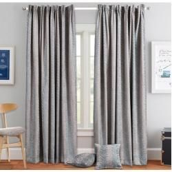 Photo of Thermo curtain set with curling tape, opaqueWayfair.de