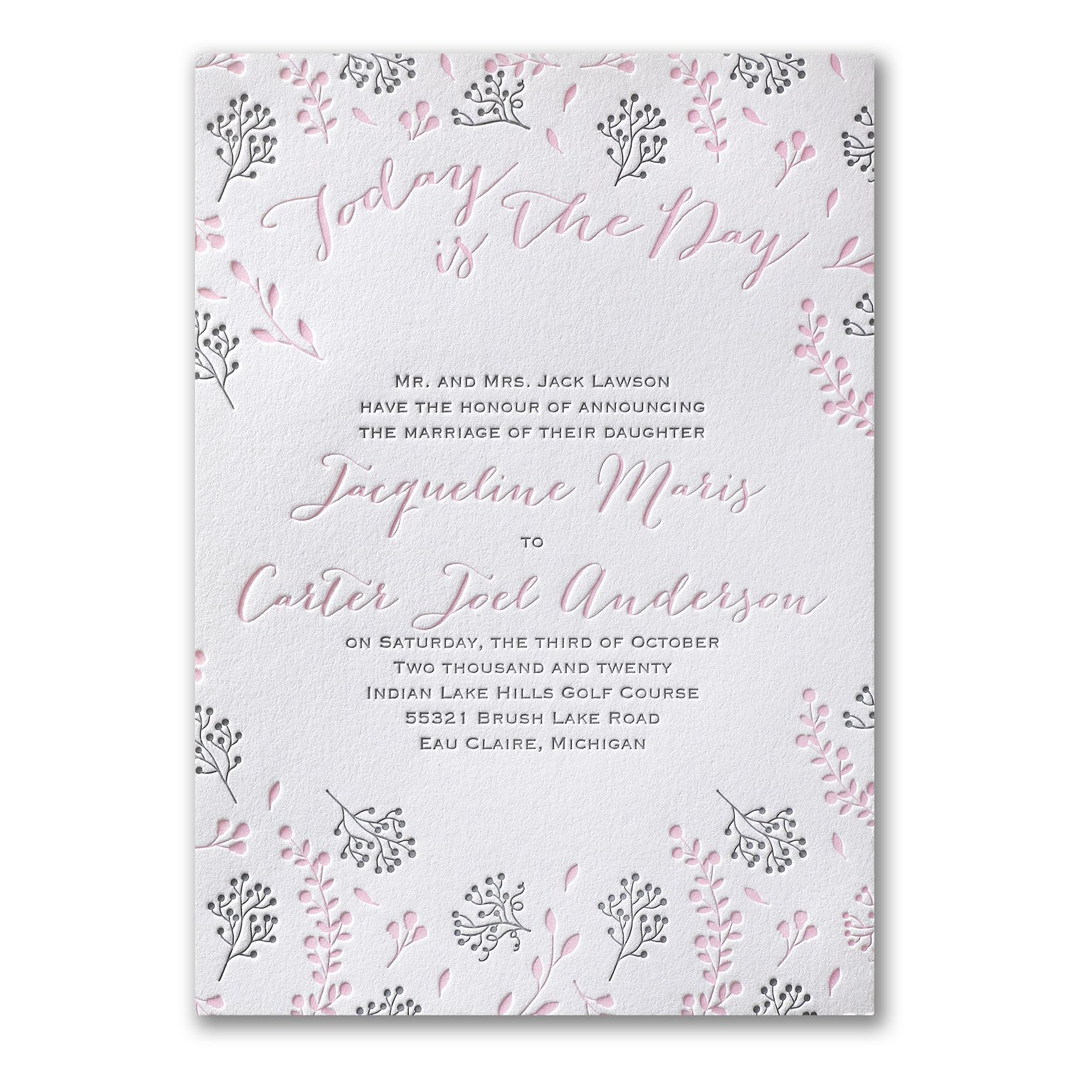 Delicate Floral - Invitation | 40% OFF Carlson Craft Wedding ...