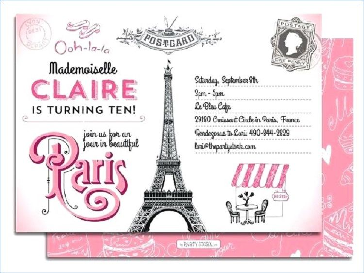 Birthday Invitation Card In French Ecards