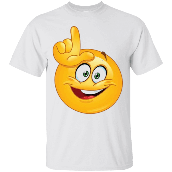 a9a912a9b Loser Emoji T-Shirt L on Forehead Funny Emoticon Smiley Face https