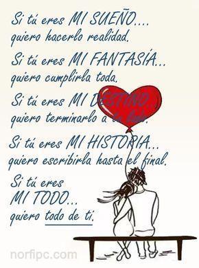 Mensajes de amor para que se entere que le necesito y es todo para mi